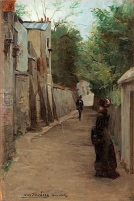 Flanörer, Rue Gabrielle, Montmartre by Nils The Elder FORSBERG