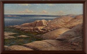 Kustlandskap by Julius WEIDIG
