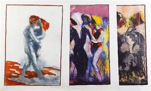 Dansen, Svit Med Tre Färglitografier by Peter DAHL