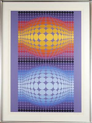 Optisk Komposition by Victor VASARELY