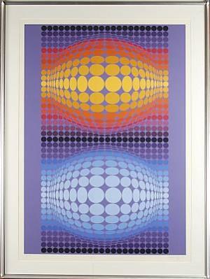Optisk Komposition by Victor VASARELY