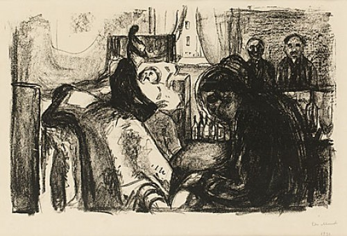 The Death Of The Bohemian by Edvard MUNCH