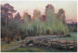 Morkulla I Kvällslandskap by Lindorm LILJEFORS