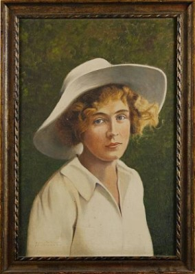 Porträtt, Grisslehamn 1922, by Karl 'Xylografen' ANDERSSON