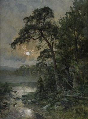Månsken över Nordiskt Landskap by Anna GARDELL-ERICSON