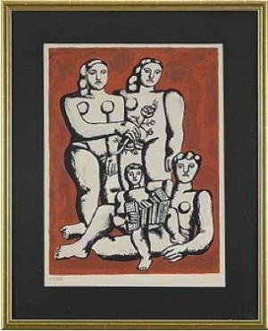 Femmes Et Enfants à L'accordeon by Fernand LEGÉR