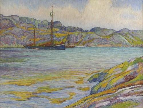 Båtar Vid Klippa, Kyrkesund by Karl NORDSTRÖM