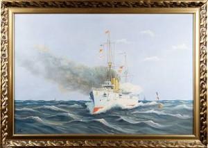 Pansarkryssaren Fylgia by Henrik LÖFGREN