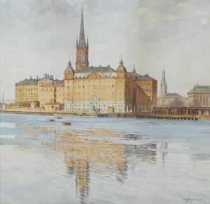 Vy över Riddarholmen by Gunnar WIDFORSS