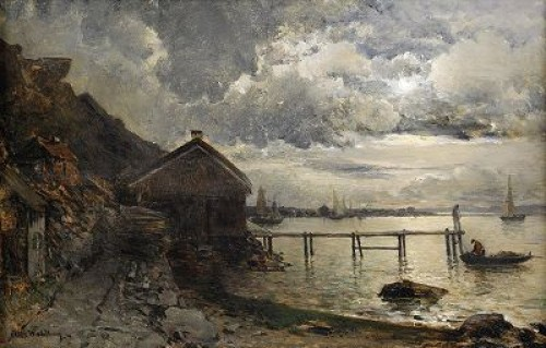 Månsken, Fjällbacka by Alfred WAHLBERG