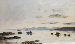 Golfe Juan. L'escadre Dans La Baie by Eugène Louis BOUDIN