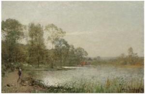 Morgonsol över Vik by Alfred WAHLBERG