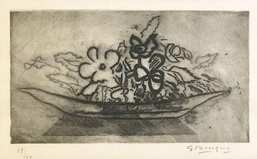 Corbeille De Fleurs, (lit: Vallier 71) by Georges BRAQUE