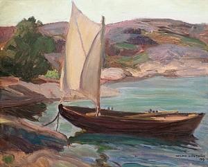 Boat In Archipelago by Wilho SJÖSTRÖM