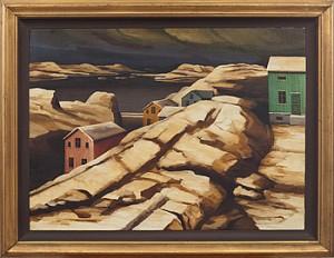 Snölandskap by Gunnar LÖBERG