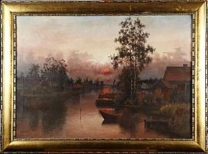 Solnedgång by Carl HALLSTRÖM