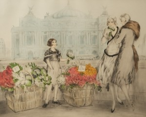 Parisian Flower Seller by Louis ICART