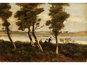 Am Fluss by Henri Joseph HARPIGNIES