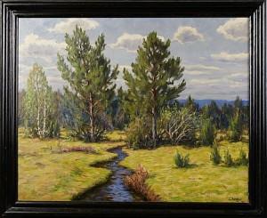 Landskap Med Bäck by Karl Enoch RINGNÉR