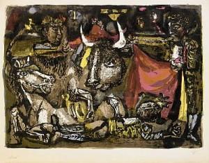Corrida (la Mort Du Torero) by Antoni CLAVÉ