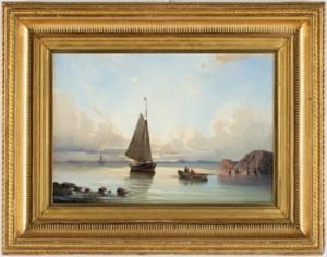 Segelbåt Samt Fiskare by Christian Fredrik SWENSSON