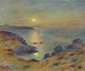 Coucher De Soleil à Douarnenez by Pierre Auguste RENOIR