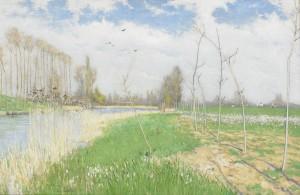 Aprilvår Vid Loing by Karl NORDSTRÖM