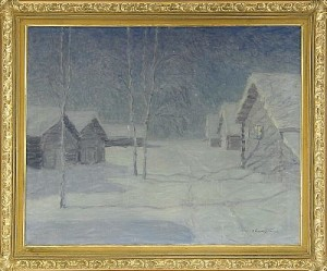 January Night by Vitold Kaetanovich BIALINITSKY-BIRULIA