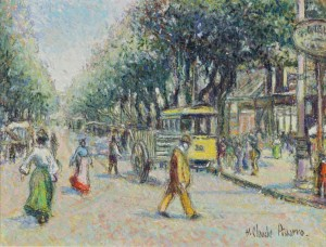 Tramway Jaune Cours Belsunce by Hughes Claude PISSARRO