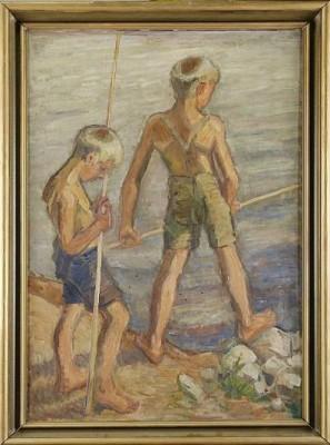 Metande Pojkar by Gösta WESSTRÖM