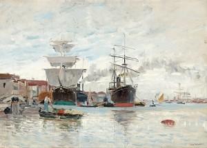 Hamnbild Från Venedig by Carl SKÅNBERG