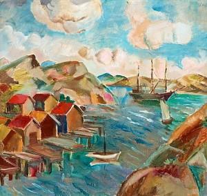 Båtar Och Sjöbodar by Jules SCHYL