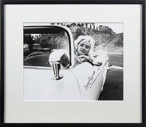 Marilyn In A White Chrysler by George BARRIS