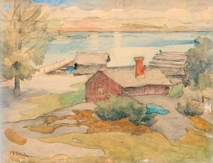 Cottage In The Archipelago by Maria WIIK