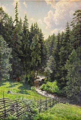 Solbelyst Skogsbäck by Johan KROUTHÉN