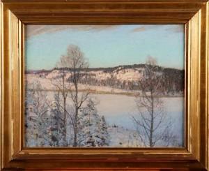 Vinterlandskap Med Sjö by Alfred BERGSTRÖM