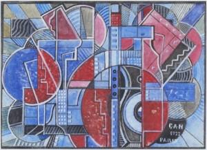 Geometrisk Komposition by Gösta 'Gan' ADRIAN-NILSSON