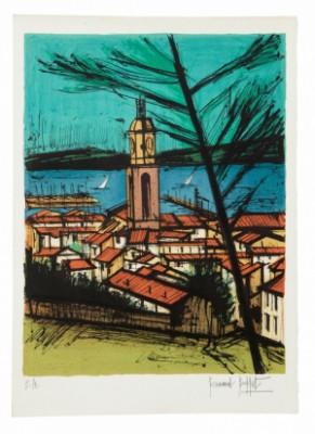 Saint Tropez L' Eglise, La Baie by Bernhard BUFFET