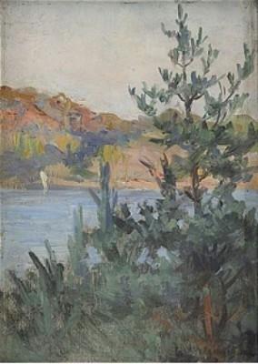 Solnedgång - Dalarö by Alf WALLANDER