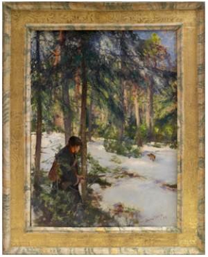 Rävjägare På Pass by Bruno LILJEFORS