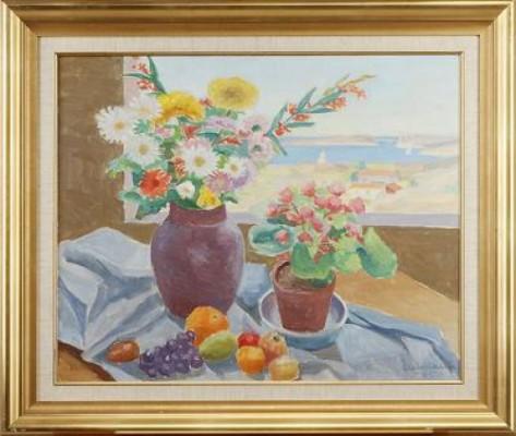 Blommor Vid Fönstret by Ellis WALLIN