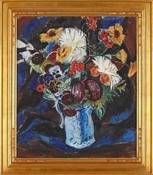 Blomsterstilleben by Frans TIMÉN