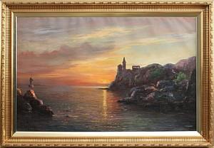 Solnedgång över Vatten by Arup JENSEN