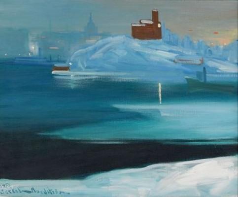 Vy Mot Kastelholmen - Stockholm by Gustaf Adolf Engelbert 'Bertel' BERTEL-NORDSTRÖM