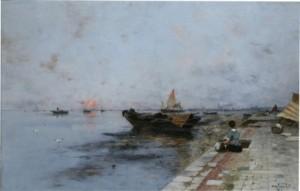 Tvätterska Vid Kaj I Venedig by Wilhelm Von GEGERFELT