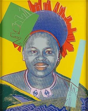 Reigning Queens: Queen Ntombi Twala by Andy WARHOL