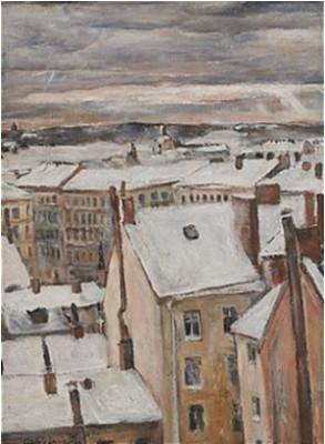 Utsikt Från Konstnärens Fönster by Alf MUNTHE