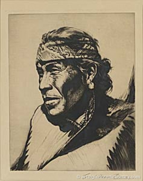 Capitain, Navajo by Carl Oscar BORG