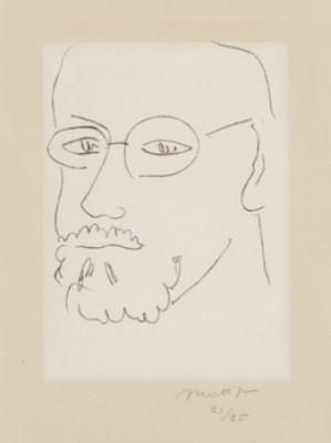 Autoportrait De Trois-quarts by Henri MATISSE