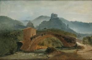 Italiensk Landskapsstudie by Gustaf Wilhelm PALM